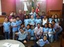 Alunos da Escola Estadual Leôncio Ferreira de Melo visitaram a Câmara Municipal